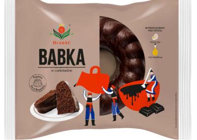 Babka piaskowa o smaku czekoladowym w czekoladzie 380 g